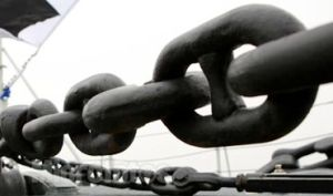 Offshore Mooring Link Chains, Black Tar Painted pictures & photos