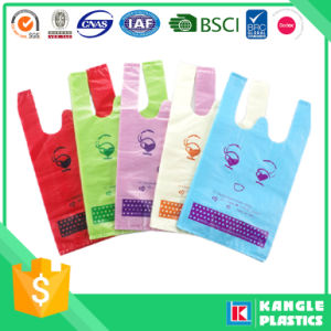 Custom Printed Shopping Plastic T Shirt Bag with Brc pictures & photos