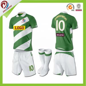 Youth Soccer Uniforms Sets Soccer Football Jersey Kids Stripe Soccer Jerseys pictures & photos
