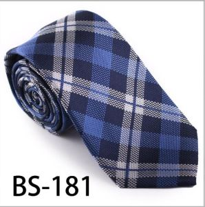 New Design Fashionable Silk/Polyester Check Tie (BS-181) pictures & photos