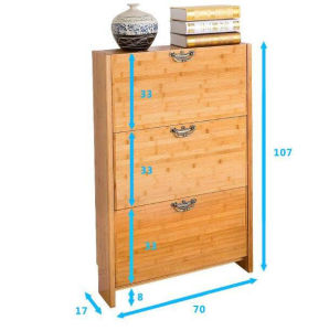 Solid Wooden Shoe Rack Cabinet (M-X2097) pictures & photos