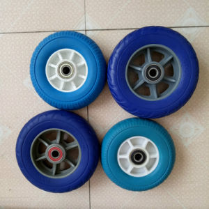 Flat Free Light Weight PU Rubber Wheel pictures & photos