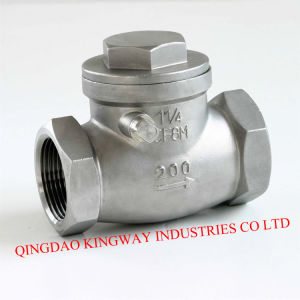 Stainless Steel Swing Check Valve, Threaded pictures & photos