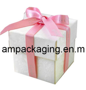 High Level Cardboard Set up Watch Packaging Box with Pink Ribbon Bow Wrapped pictures & photos