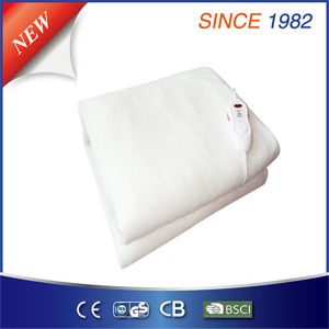 Pure White 100% Polyester Electric Blanket with Non-Polar Switching pictures & photos