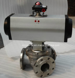 Y Type 3-Way Stainless Steel Trunnion Ball Valve pictures & photos
