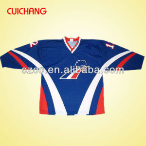 Wholesale Heat Transfer/Silk Screen Print Polyester/Cotton Custom Design Ice Hockey Wear, Team Hockey Wear Bqf-006