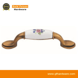 Zinc Alloy Ceramic Furniture Handle/ Classical Furniture Hardware/ Cabinet Handle (C225 CF-Y) pictures & photos