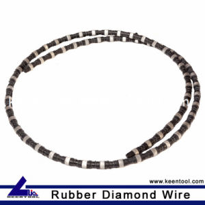 Rubber Coated Diamond Wire Saw for Granite Quarry pictures & photos