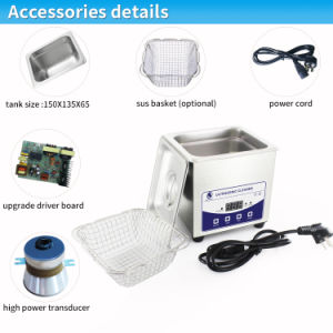 Ultrasonic Cleaner with Degassing Jp-010t 2.0L 60W 40kHz pictures & photos