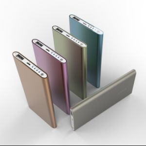 Metal Case Polymer Batteries 4000mAh Ultra Slim Power Bank pictures & photos