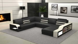 china high-grade modern nice italy big feature leather sofa with