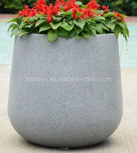 Fiberglass Reinforced Plastic Flower Terrazzo Planter/Pots for Garden Decoration pictures & photos