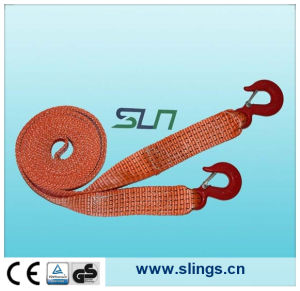 100% Polyester Winch Straps with Chain Hook pictures & photos
