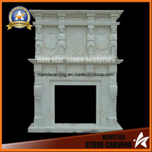White Marble Decorative Woman Stone Fireplace pictures & photos