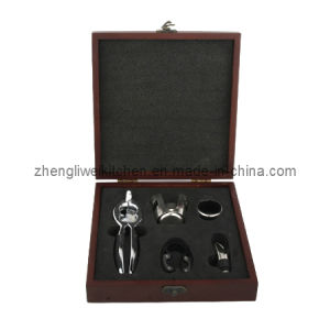 Champagne Opener Set in Wooden Box (600034-E) pictures & photos