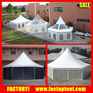 Clear Roof Transparent Hexagonal Hexagon Pagoda Tent in Guangzhou pictures & photos
