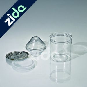 Transparent Round Pet Plastic Candy Jar with Cap pictures & photos