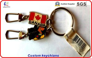 Gold Plated Hard Enamel Keychains pictures & photos