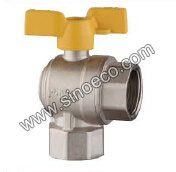 Brass Reduced Angle Ball Valve with Aluminum Handle pictures & photos