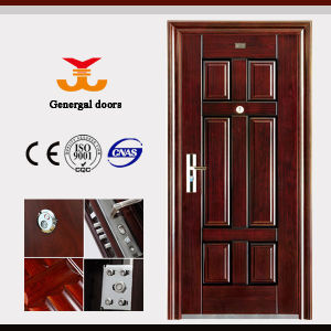 Chinese Cheap Steel Entrance Safe Door pictures & photos