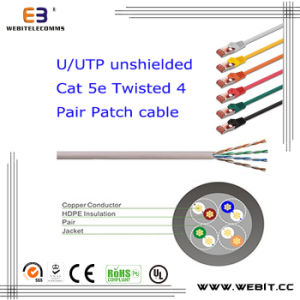 U/UTP Cat5e Patch Cord/Patch Cable pictures & photos
