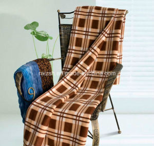 Classical Heavy Check Design Polar Fleece Winter Throw Blankets pictures & photos