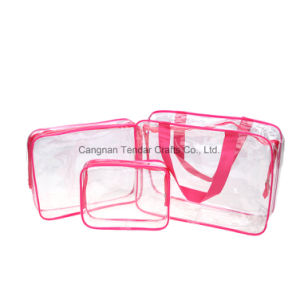 PVC Makeup Toiletry Gift Packing Bag in Bag Sets Travel Cosmetic Bag pictures & photos