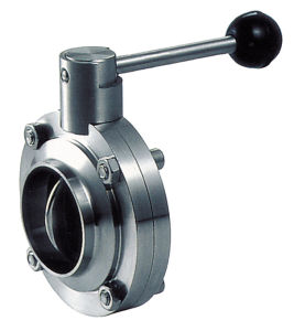 Sanitary Stainless Steel Weld Butterfly Valve pictures & photos