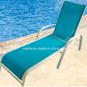 Model Garden Patio Outdoor Wicker Textilene Lounger pictures & photos