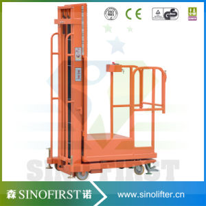 3m to 4.5m Mobile Semi Electric Hydraulic Order Picker Truck Machine pictures & photos