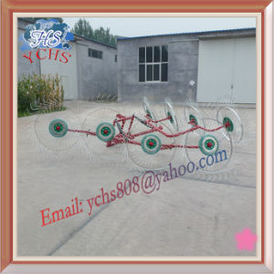 Farm Machinery 8 Tines Tractor Hanging Hay Rake pictures & photos