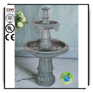 42.5 Inch Two Layer Rocky Fiberglass Fountain for Garden