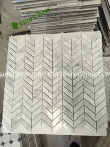 Different Designs Italian Carrara White Marble Mosaic, Tiles and Marbles pictures & photos