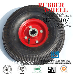 Hand Truck Tyre Trolley Tyre Pneumatic Barrow Wheel Tire 3.50-4 Rubber Wheel pictures & photos