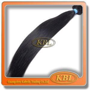 Human Hair Weft Brazilian Jet Black Hair pictures & photos