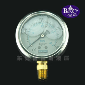 Yn100 Stainless Steel Type Bottom Connection Pressure Gauge pictures & photos