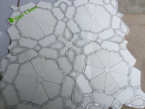 Square Natural Marble Stone Water Jet Mosaic for Hotel Decoration pictures & photos