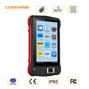 (Factory) Andorid Handheld Mobile Terminal with Fingerprint Reader and RFID Hf 13.56MHz pictures & photos