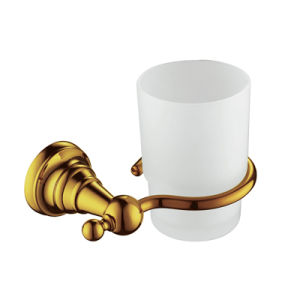 High Quality Brass Toothbrush and Tumbler Holder in Gold Plated pictures & photos