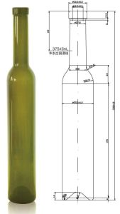 375ml AG Bottle for Ice Wine with Cork 18.5mm pictures & photos