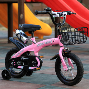 "12"" Steel Frame Children Bikes with Mudguard Kids Bike with Training Wheels pictures & photos"