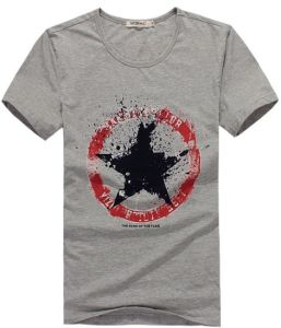 Men Fashion Round Neck Star Print T-Shirt pictures & photos