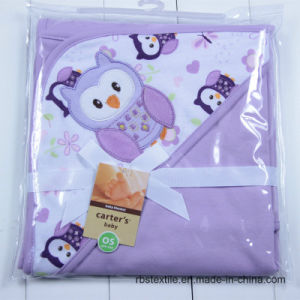 High Quality 100% Cotton Baby Swaddle Blanket Hooded Poncho pictures & photos