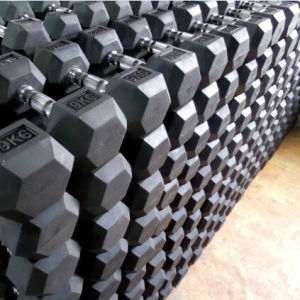 Rubber Hex Dumbbell Made in China pictures & photos