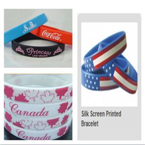 Promotion Silk Screen Printed Bracelet pictures & photos
