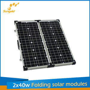 80W Folding Solar Panel Kit for Camping, Solar Module pictures & photos
