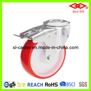 125mm Bolt Hole Locking PU Caster Wheel (G102-26D125X35S) pictures & photos