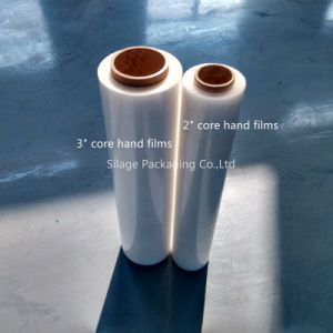 High Quality Transparent Blown LLDPE Hand Wrap Films / Small Wrap Film Rolls pictures & photos