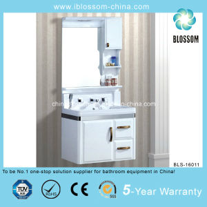 White Color Hunging Resin Basin Bathroom Cabinet (BLS-16011) pictures & photos